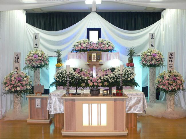 家族葬40万生花祭壇
