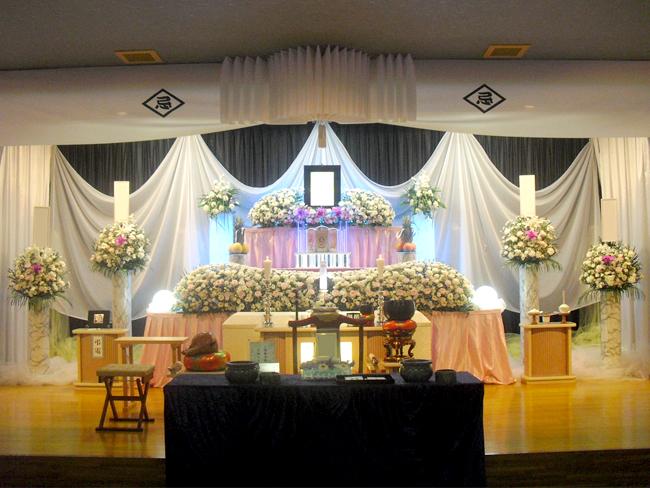 家族葬90万生花祭壇