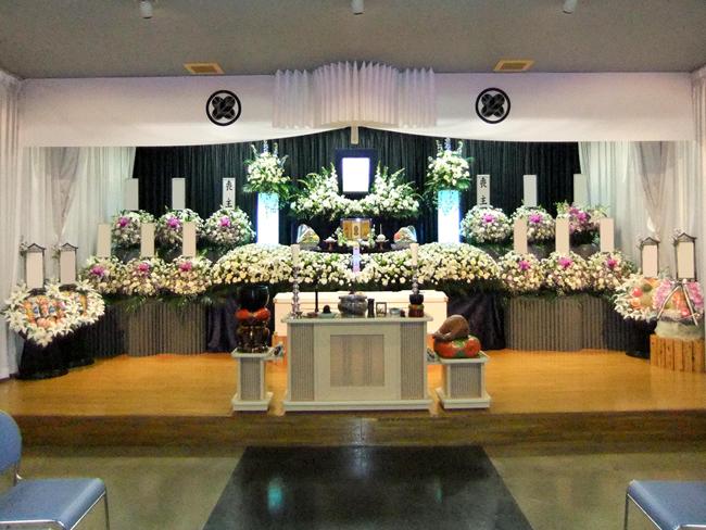 一般葬130万生花祭壇