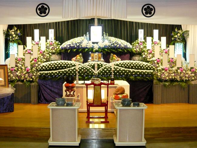 一般葬160万生花祭壇