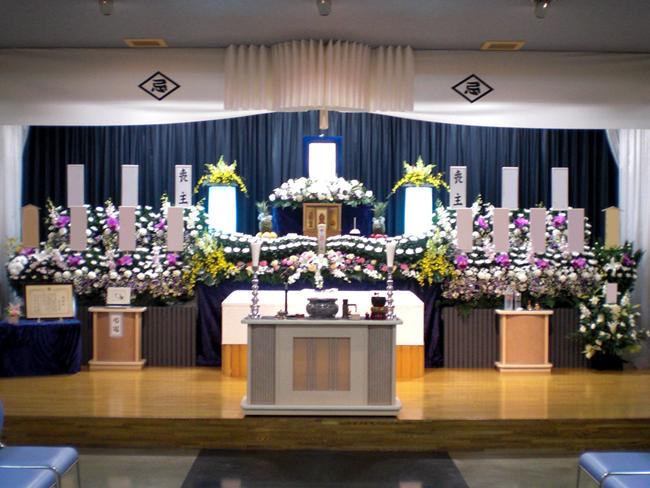 一般葬70万生花祭壇